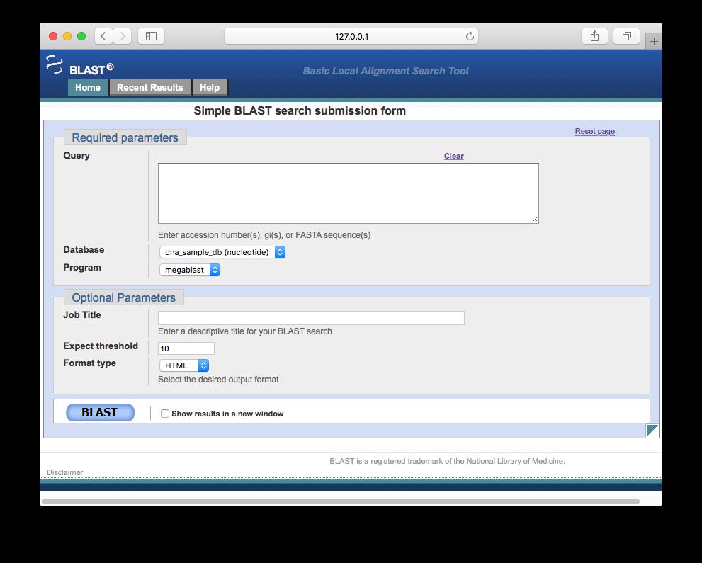 BlastStation: Web-based NCBI Blast+ for Mac
